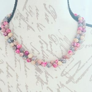 Jewelry - Burgundy Speckled Beaded Necklace